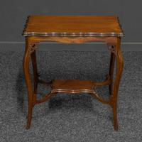 Edwardian Mahogany Window Table (3 of 8)