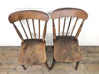 Pair of Antique Elm Farmhouse Kitchen Chairs (2 of 8)