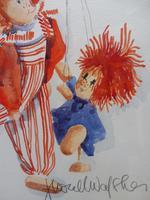 Watercolour The Puppets listed Irish artist Judith Caulfield Walsh (7 of 10)