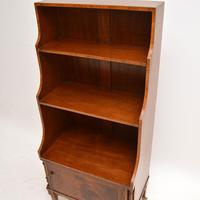 Antique Inlaid Mahogany Cascading Open Bookcase (7 of 9)
