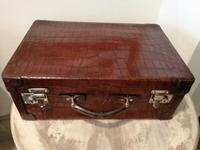 Fine Quality Crocodile Skin Suit / Dressing Case