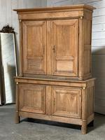 Wonderful French Empire Period Bleached Oak Linen Press (30 of 32)