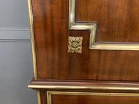 Early 19th Century Brass Mounted Flame Mahogany Linen Press (4 of 21)