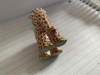 Herend Porcelain Elephent Figurine in Rust Fishnet Design with 24ct Gold Detail (6 of 7)