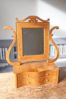 Swedish Birch / Masurbjörk Box Mirror Rococo style c.1820 (6 of 15)