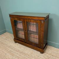 Quality Victorian Rosewood Antique Glazed Display Cabinet / Bookcase (6 of 9)