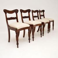 Set of 4 Antique William IV Mahogany Dining Chairs (5 of 10)