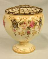 Antique Crown Devon Fieldings Jardiniere Rose Bowl (2 of 9)