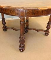 Antique Burr Walnut Extending Dining Table Eight Seater (14 of 14)