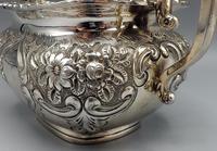 Victorian Rococo Silver Plated Milk Jug & Sugar Bowl - 1897 (4 of 9)