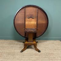 Spectacular Mellow Rosewood and Brass Inlaid Regency Circular Centre Table (7 of 8)