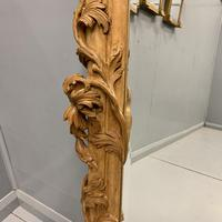 Large Carved Wood Overmantle Mirror (8 of 9)