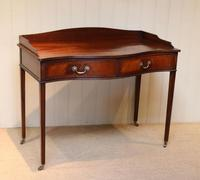 Mahogany Serpentine Front Side Table (3 of 10)