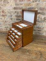 Mahogany Dentist Cabinet with Chrome Handle