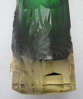 Large Harrach Bohemian Art Nouveau Glass Vase, Deep Intaglio Etching c.1910 (7 of 8)