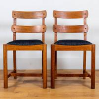 Set of 6 1930s Golden Oak Dining Chairs in the Manner of Heal's (2 of 16)