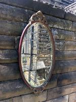 Pair of Quality Walnut & Parcel Gilt Oval Wall Mirrors (8 of 9)