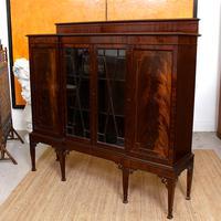 Edwardian Bookcase Inlaid Mahogany Glazed (6 of 7)