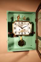 Italian Interest Automaton Large Oak Signed Odo Striking Wall Clock (8 of 11)