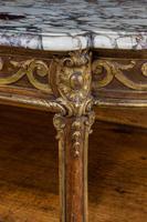Mid 19th Century Oak & Parcel Gilt Side Table (5 of 7)