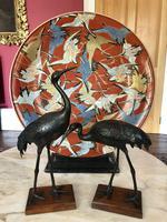 Antique Pair of Japanese Bronze Metal Crane Sculptures (11 of 12)