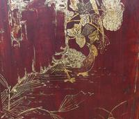 Impressive Pair of Chinese Chinoiserie Lacquered Panels (3 of 10)