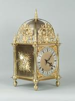 Fine Quality Late Victorian Brass W&H Lantern Mantel Clock (4 of 9)