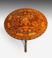 19th Century Dutch Marquetry Inlaid Tilt Table (4 of 7)