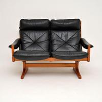 1970's Vintage Teak & Leather Sofa by Soda Galvano (2 of 10)