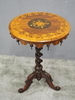 Marquetry Inlaid Walnut Wine Table (6 of 10)