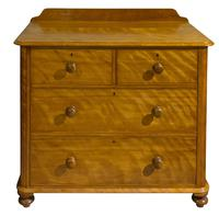 A Victorian Birch Satinwood Chest of Drawers (6 of 7)