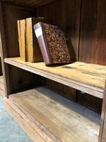 Oak Breakfront Open Bookcase (12 of 20)