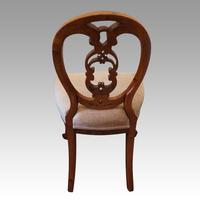 Set of 4 Victorian Walnut Dining Chairs (3 of 6)