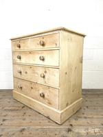 Antique Pine Chest of Drawers on Plinth Base (6 of 9)