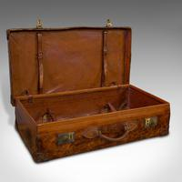 Antique Travel Suitcase, English, Leather, Gentleman's Case, Edwardian c.1910 (6 of 10)