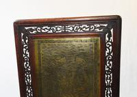 Antique Chinese Screen Hardwood Brass Plaque Circa 1890 (6 of 15)