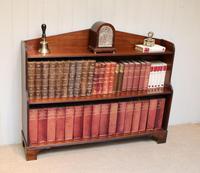 Edwardian Open Mahogany Bookcase c.1910 (9 of 12)