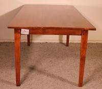 French Table with Two Drawers - The 19th Century in Cherry Wood (3 of 6)
