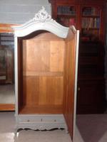 Painted Single Armoire in Plummet Grey (8 of 8)