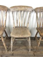Set of Four Antique Farmhouse Kitchen Chairs (8 of 14)
