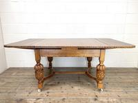 Antique Oak Draw Leaf Dining Table (5 of 10)