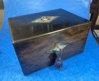 Victorian Ebonised Jewellery Box with Mother of Pearl & Abalone Inlay (15 of 18)