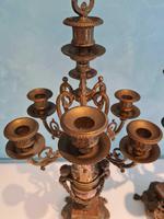 Pair of Italian Candelabra in Brass with Cherubs Vintage (5 of 8)