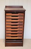 Mahogany Tambour Front Filing Cabinet (2 of 10)