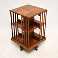 Antique Victorian Walnut Revolving Bookcase (2 of 10)