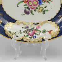 First Period Worcester Porcelain Scale Blue Oval Dish c.1770 (5 of 8)