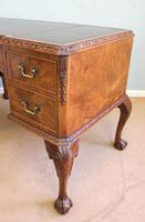 Quality Burr Walnut Kneehole Writing Desk (14 of 15)