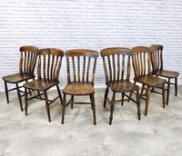 Matched Set of 6 Windsor Slatback Kitchen Chairs (3 of 8)