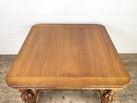 Antique Oak Draw Leaf Dining Table (2 of 10)