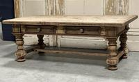 Rustic French Bleached Oak Coffee Table with 2 Drawers (3 of 19)